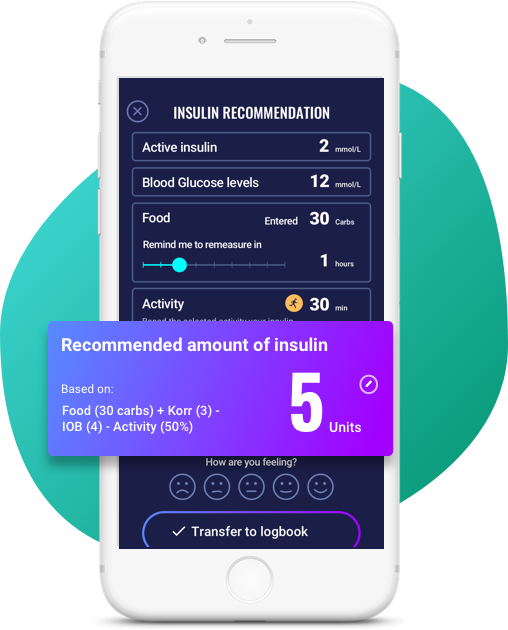 insulin recommendation in our app for diabetics