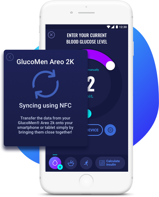 diabetes app and glucomen areo 2k