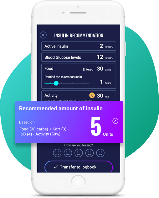 diabetes dashboard insulin recommendation